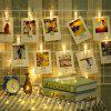 Photo Card Wall Clip Víla LED String Light Dovolená Decoration - TEPLý