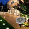 BRELONG 8LED Solar Buried Lights Outdoor Lawn Lamp 4PCS - WARM WHITE