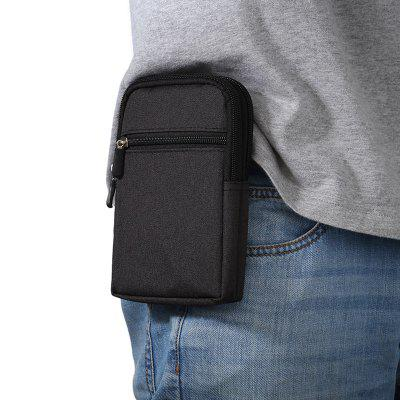 Universal Denim Leather Cell Phone Bag Belt Clip Pouch Waist Purse Case Cover For All SmartPhone Below 6.3 Inch