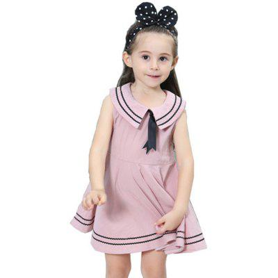 New Girl Navy Pure Cotton Dress