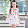 The New Girl Heart Knot Princess Dress - RED AND WHITE