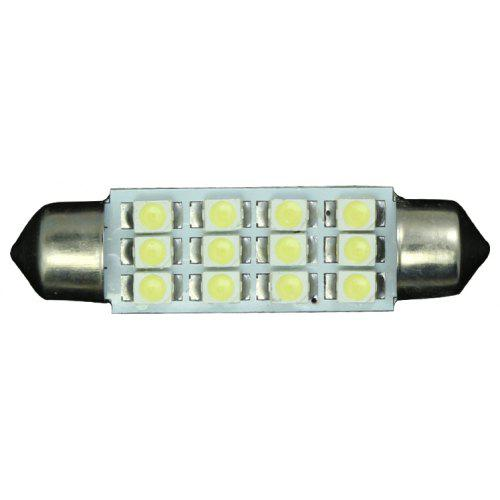 Atv,rv,boat & Other Vehicle Accessories 10pcs White Great Car Dome 12 3528-smd Led Bulb Light Interior Festoon Lamp 41mm