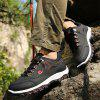 ZEACAVA  Male Simple Ultralight Soft Breathable Hiking Sneakers - BLACK