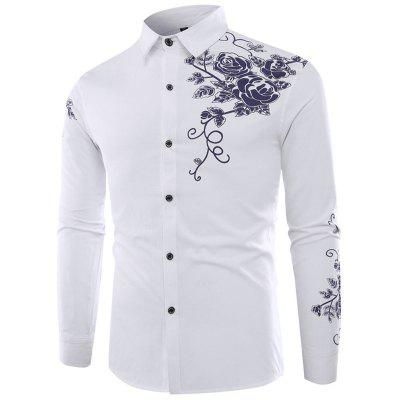 Chinese Wind Patterned Men'S Long Sleeved Shirts
