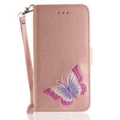 Cover Case for iPhone 6 / 6S Hand Draw A Butterfly PU+TPU Leather with Stand and Card Slots Magnetic Closure free shipping new 10 1 original stand magnetic leather case cover for lenovo ibm thinkpad 10 tablet pc with sleep function