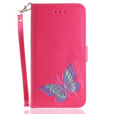 Cover Case for iPhone 6 Plus / 6S Plus Hand Draw A Butterfly PU+TPU Leather with Stand and Card Slots Magnetic Closure free shipping new 10 1 original stand magnetic leather case cover for lenovo ibm thinkpad 10 tablet pc with sleep function
