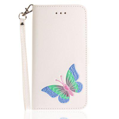 Cover Case for iPhone 7 Plus / 8 Plus Hand Draw A Butterfly PU+TPU Leather with Stand and Card Slots Magnetic Closure free shipping new 10 1 original stand magnetic leather case cover for lenovo ibm thinkpad 10 tablet pc with sleep function