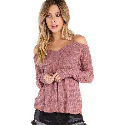 Women's Causal Boat Neck Solid Long Sleeve T-Shirt