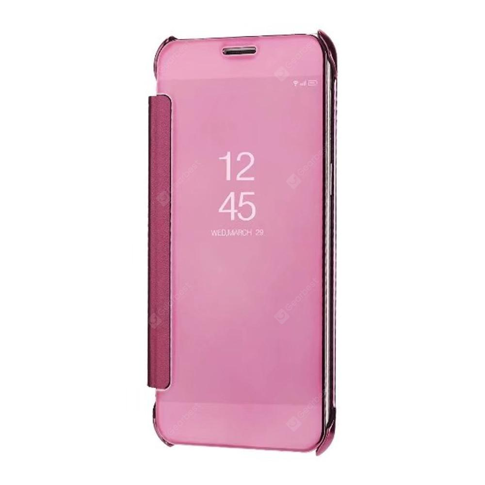 Casing Metal Bumper Mirror For Samsung Galaxy Note 1 N7000 Rose Gold Free Tempered Glass -
