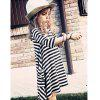 New Black and White Striped Parent-Child Dress - BLACK STRIPE