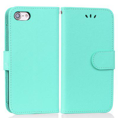 Cover Case For iPhone 7 Solid Color Pattern PU Leather Wallet Case