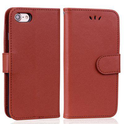 Cover Case For iPhone 8 Solid Color Pattern PU Leather Wallet Case