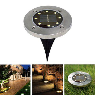 BRELONG 8LED Solar Buried Lichter Outdoor Rasen Lampe 1ST