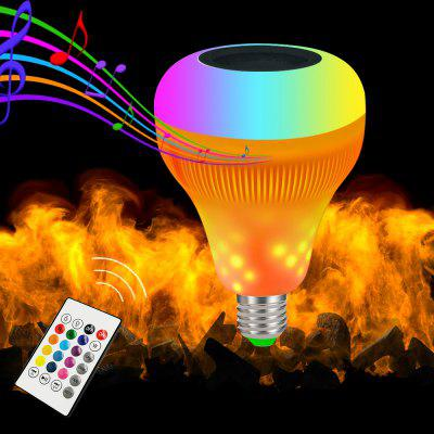 BRELONG E27 LED Flame Music Lamp  Bluetooth Remote Control Colorful Smart Lights