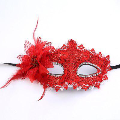Hot Sexy Lady Masquerade Party Rose Flower Face Mask Beautiful Princess Flowers