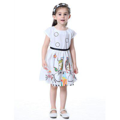New Fashion Digital Print Princess Skirt