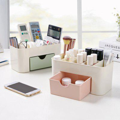 Cosmetic Jewelry Organizer Office Storage Drawer Desk Plastic Makeup Brush Box Lipstick Remote Control Holder