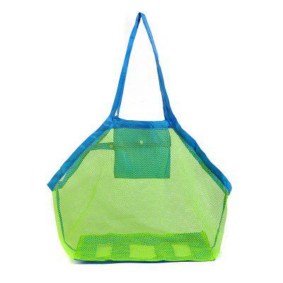 Folding Child Beach Mesh Bag Child Bath Toy Storage Bag Net Suction Cup Baskets for Outdoor Hanging