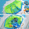 Folding Child Beach Mesh Bag Child Bath Toy Storage Bag Net Suction Cup Baskets for Outdoor Hanging - GREEN