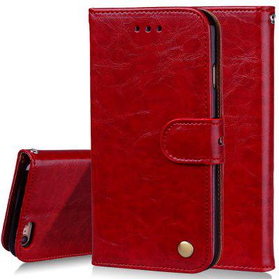 Cover Case For iPhone 6 Plus Oil Wax Pattern PU Leather Wallet Case kinston four leaf clover pattern pu plastic case w stand for iphone 6 plus red silver