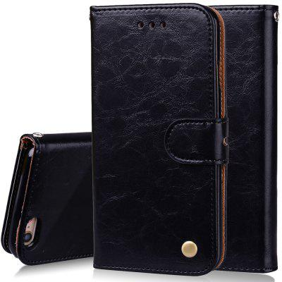Cover Case For iPhone 6 Plus Oil Wax Pattern PU Leather Wallet Case kinston future road pattern pu leather full body case w stand for iphone 6 4 7 multicolored