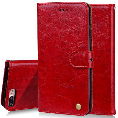 Cover Case For iPhone 7 Plus Oil Wax Pattern PU Leather Wallet Case case cover for goclever quantum 1010 lite 10 1 inch universal pu leather for new ipad 9 7 2017 cases center film pen kf492a