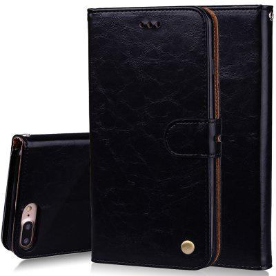 Фото Cover Case For iPhone 8 Plus Oil Wax Pattern PU Leather Wallet Case for microsoft surface pro 4 genuine leather case new fashion oil wax sleeve bag