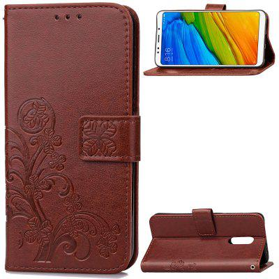 Flip Case for Xiaomi Redmi 5 Plus PU Leahter Wallet Bag Soft Silicone Back Cover
