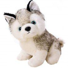 18CM Cute Simulation Husky Dog Plush Toy Gift for ბავშვებისთვის