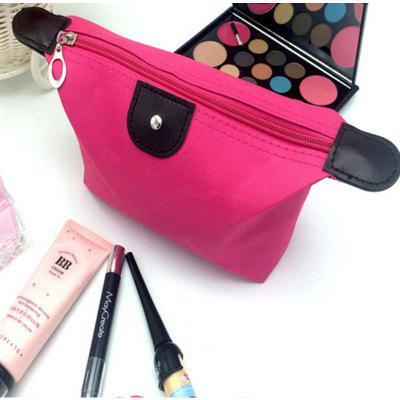 Dumpling Makeup Bag Solid Color Polyester Cosmetic Bag Around Soft Portable Korean Version Make Up Bag
