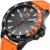 MINIFOCUS B1012  New Fashion Black Wrist Box Casual Quartz Steel Brand Top Men Sport Watches - ORANGE