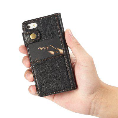 CaseMe Premium Wallet Phone Case for iPhone 5/5s/SE Leather Flip Cover with Hard PC Back Cover