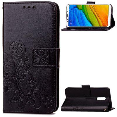 Flip Case for Xiaomi Redmi 5 PU Leahter Wallet Bag Soft Silicone Back Cover