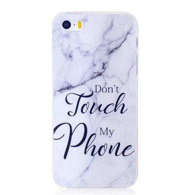 Marbling Phone Case For iPhone  5 / 5S / SE Case Trend Fashion Soft Silicone TPU Cover Cases Protection Phone Bag