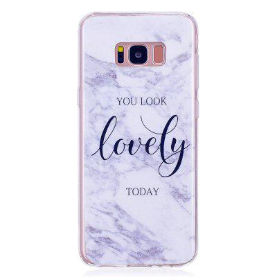 Marbling Phone Case For Samsung Galaxy S8 Case Trend Fashion Soft Silicone TPU Cover Cases Protection Phone Bag