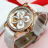 EPOZZ 80032 Ladies Mechanical Watch Flower Simple Style Waterproof - WHITE