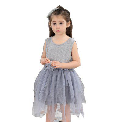 Girl Sleeveless Modern Style Princess Dress