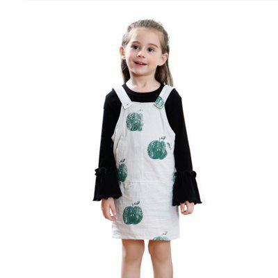 Faddish Design Suspender Dress for Girl