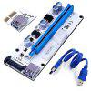 008S PCI-E Express 1x to 16x USB Riser Adapter Card Cable Molex/6pin/Sata USB 3.1 Extension Connector Riser60cm - BLUE