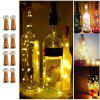 BRELONG 8LED Wine Stopper Latão Luzes Decorativas Light String 8PCS - BRANCO QUENTE