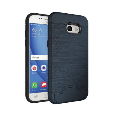 Case for Samsung Galaxy A3 2017 Card Holder with Stand Back Cover Solid Color Hard PC