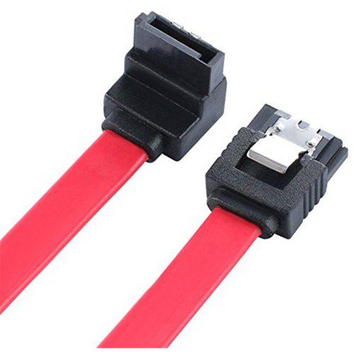 """SATA to SATA Data Cable w//Ends Locking Latches straight 16/"""" Serial ATA RED"""