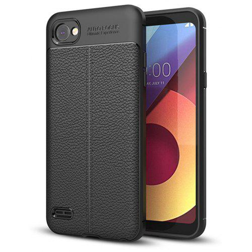 buy popular 9398a 9cab7 Cover Case for LG Q6 / Q6 Plus Luxury Original Shockproof Armor Soft  Leather Carbon TPU