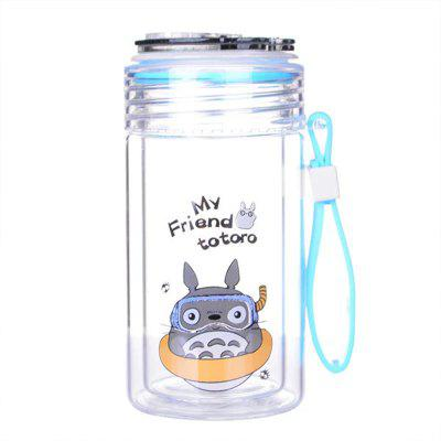Cartoon Cat Double Glazed Glass Water Cup Cover Transparent Creative Lifting Rope hard cover creative cartoon stationery notebook ruled lined bullet journal bujo