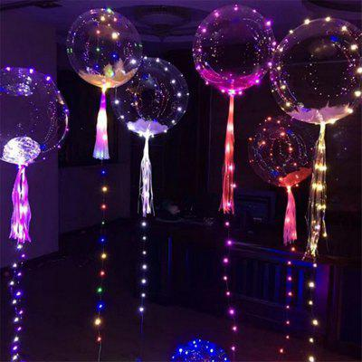 18 Inch Luminous Led Balloon 3M LED Air Balloon String Lights Round Bubble Helium Balloons Kids Toy Wedding Party Decor