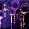 18 Inch Luminous Led Balloon 3M LED Air Balloon String Lights Round Bubble Helium Balloons Kids Toy Wedding Party Decor - TRANSPARENT