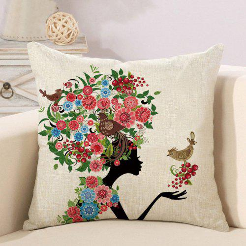Enjoyable Beauty Flower And Butterfly Decoration Couch Pillow Case For Bedroom Forskolin Free Trial Chair Design Images Forskolin Free Trialorg