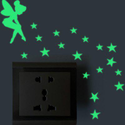 Luminous DIY Cute home Cat Switch Wall Sticker Night light bedroom Fluorescent Sticker