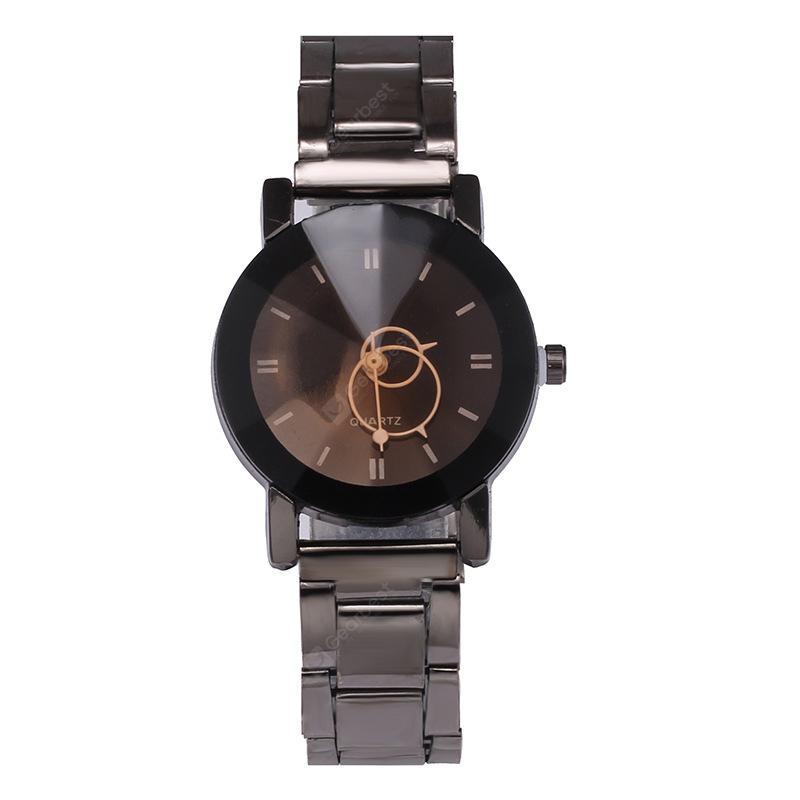 V5 Stainless Stee Band Creative Couple Quartz Watch