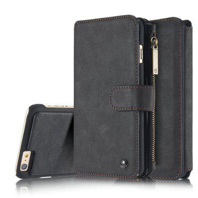 Фото CaseMe for iPhone Plus 6 / 6s Plus Wallet Case Classic Design Durable Magnetic Closure and 14 Card Slots Detachable Back Cover gumai silky case for iphone 6 6s black